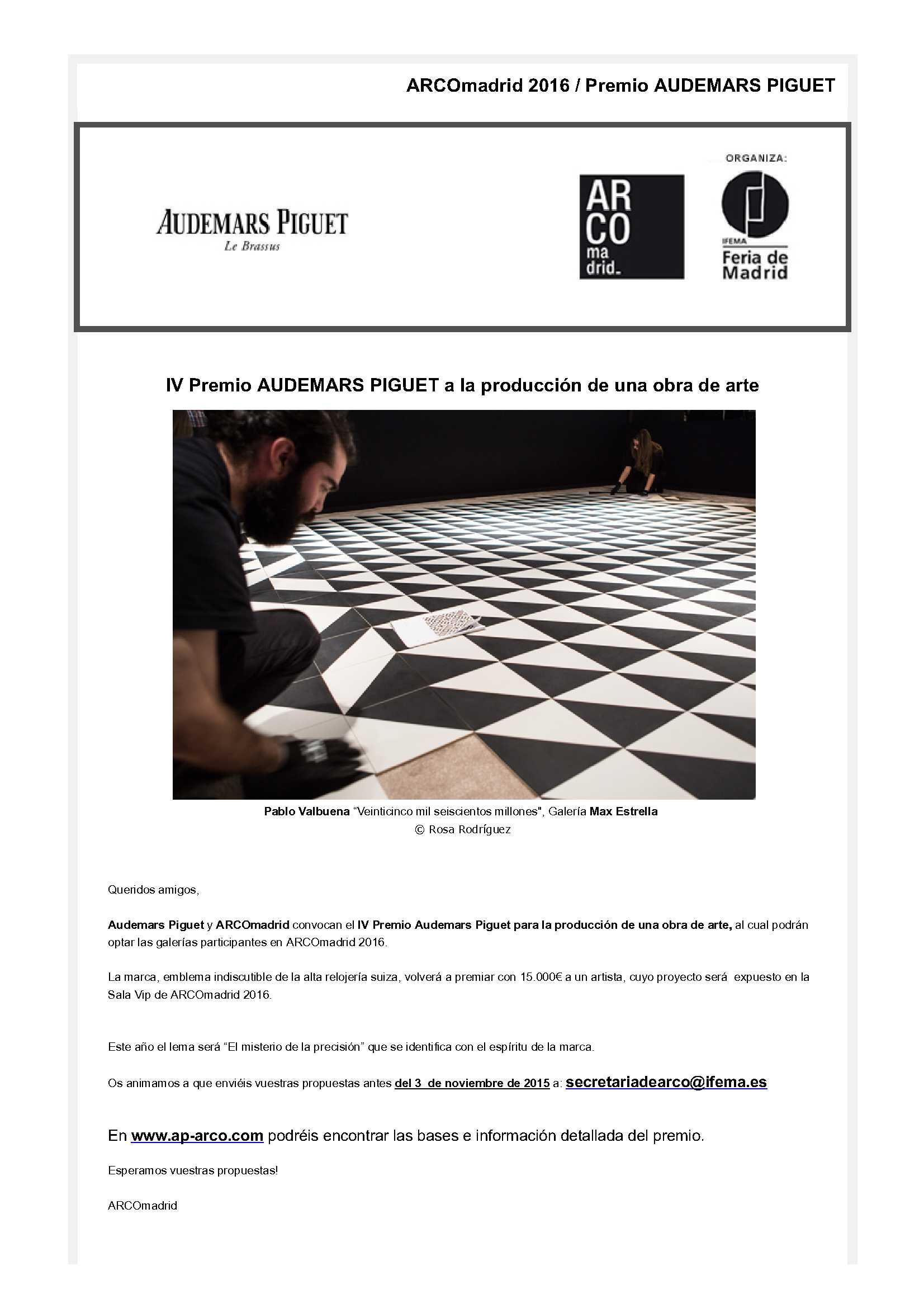 IFEMA Newsletters http://www.ifema.es/newsletters/arco/2016/ap.html