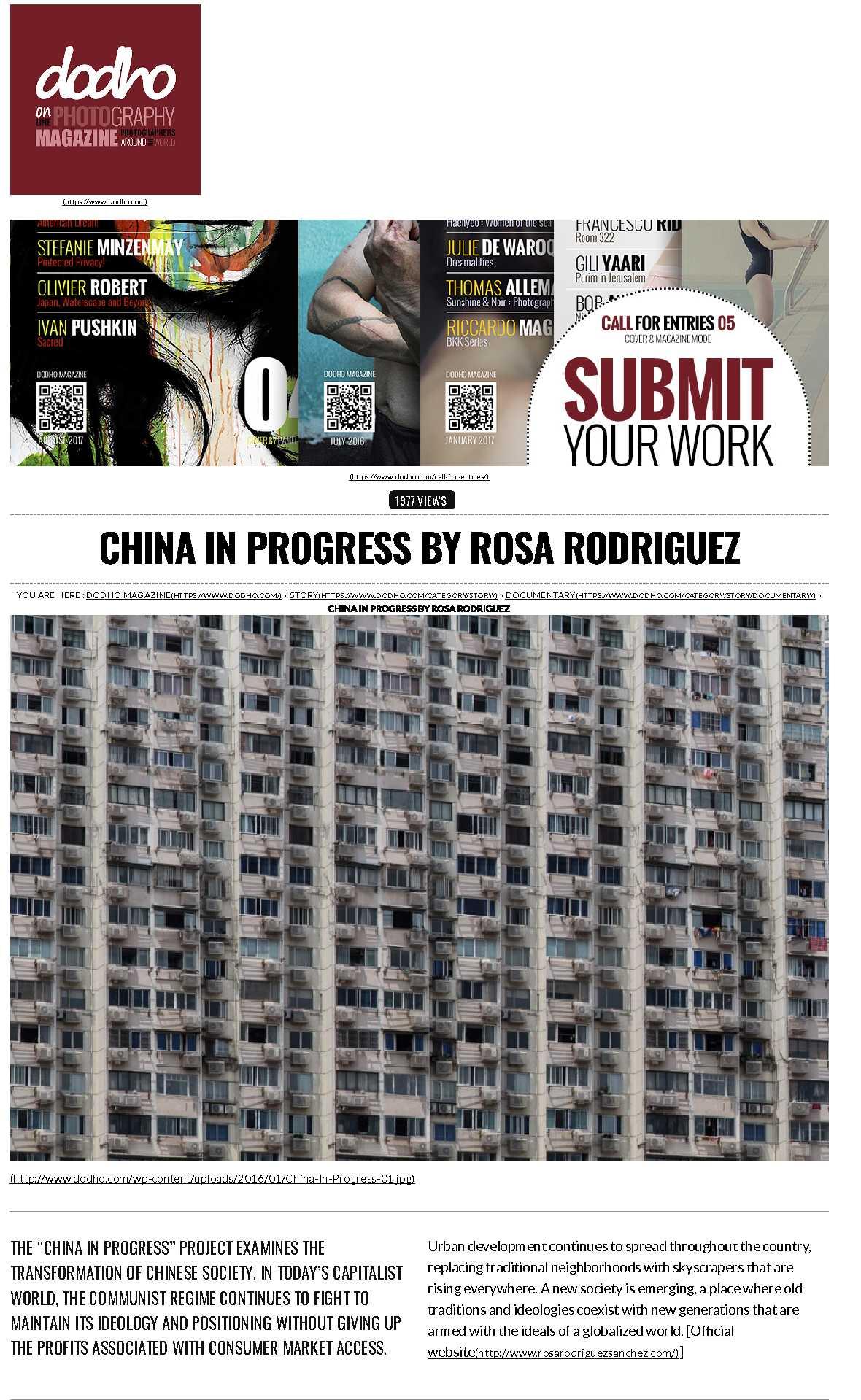 China In Progress By Rosa Rodriguez _ Dodho Magazine_1