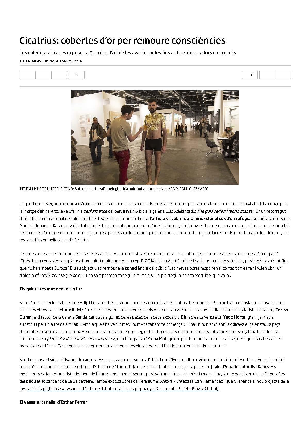 DIARIO ARA https://www.ara.cat/cultura/que-del-galeria-no-Tambe_0_1529847061.html ARA NEWSPAPER