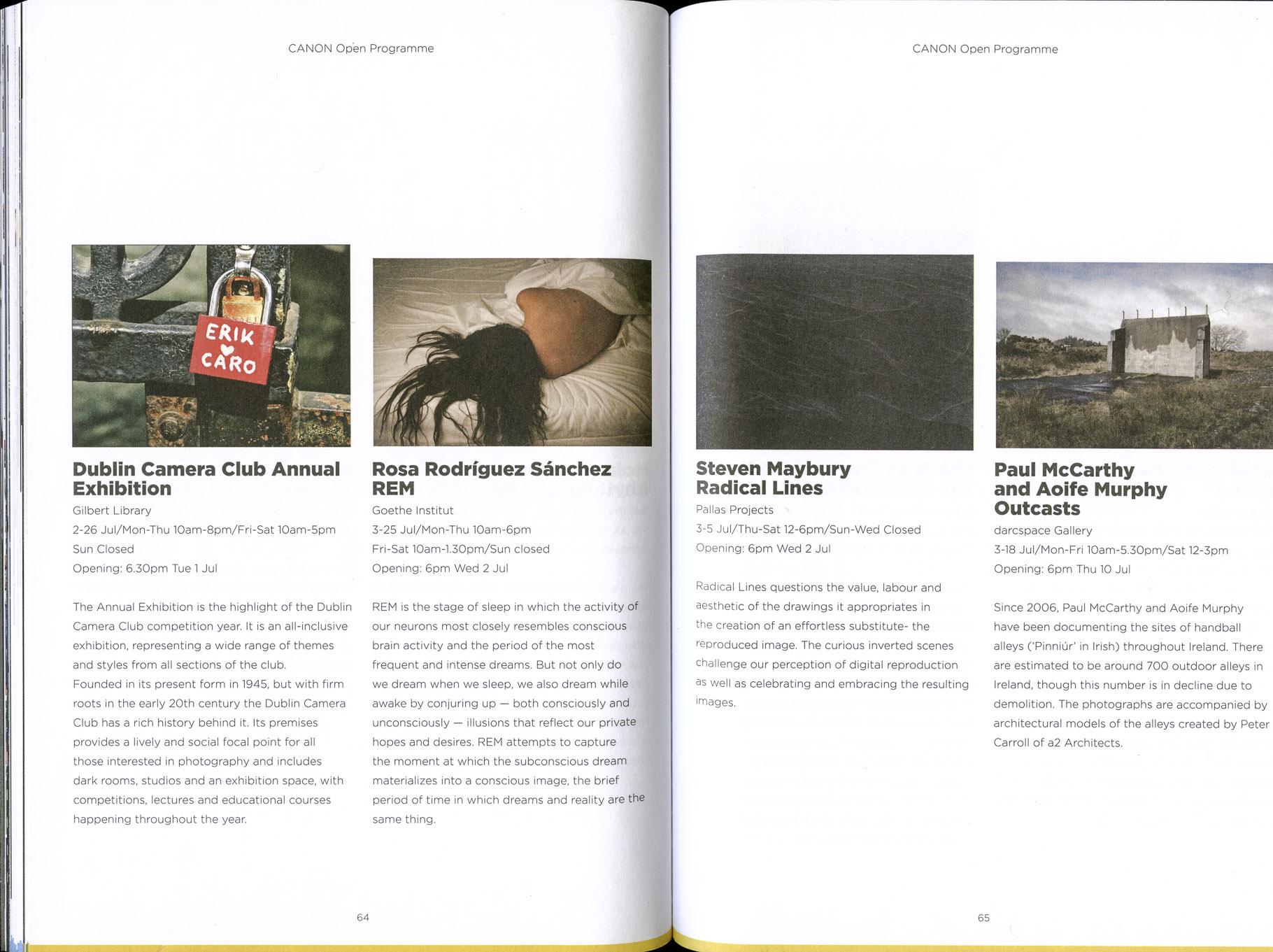 PhotoIreland Festival 2014 Canon Opem Programme